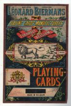 OLD Playing cards outer packet LABEL old original RARE Lion  #100